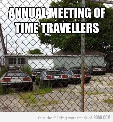 Annual meeting of time travellers.