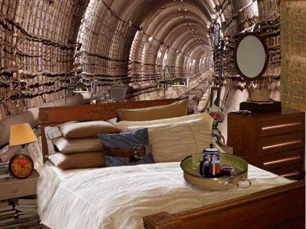 Superb Cool Steampunk Bedroom Interior Decorating Design Ideas