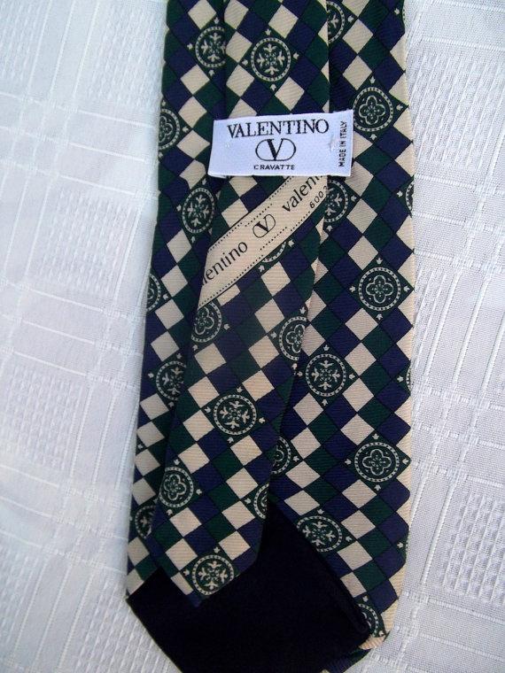 Valentino vintage tie silk baroque print by CHEZELVIRE on Etsy, $12.00