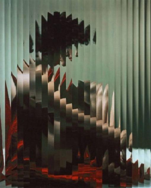 Lisette behind fluted glass, Erwin Blumenfeld - 1943, Centre Georges Pompidou