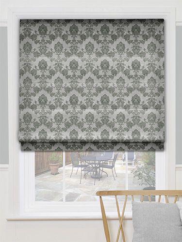 glamis silver grey roman blind grey roman blinds roman. Black Bedroom Furniture Sets. Home Design Ideas
