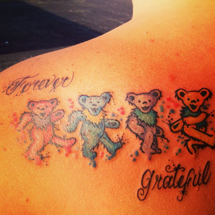 Grateful dead tattoo Done by Steven Darnell bugaboo south lake, merrillville Indiana