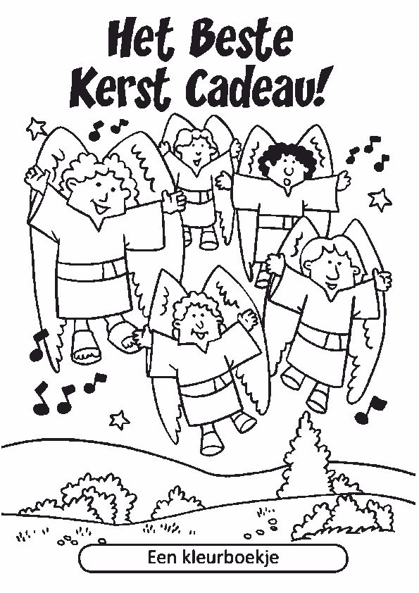 Kleurboekje kerst, Jezus geboren, voor kleuters, kleuteridee, free printable