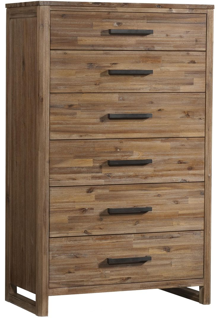 best komody images on pinterest  chest of drawers danishes  - modern chest with six fullextention drawers  bar pull hardware