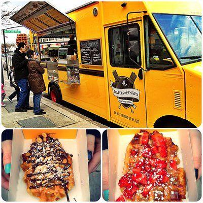 Waffles & Dinges - foodtruck. Best NYC street food eveerrrrrrr:D