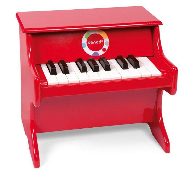 Janod Confetti Red Piano, keyboardy, J07622, Dětské klávesy, Hračkářský dřevěný klavír Confetti, vhodný pro děti od 3 do 8 let je ideálním dárkem, který přiblíží vašemu dítěti svět hudby. Klavír má 17 kláves. Prostřednictvím hraní jednoduchých tónů n