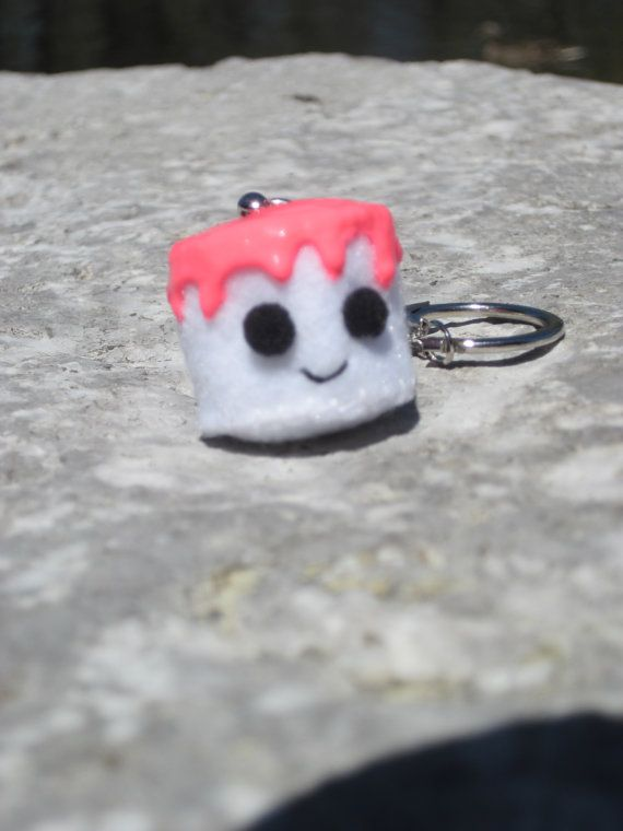 Marshmallow Keychain by KissedByACloud on Etsy