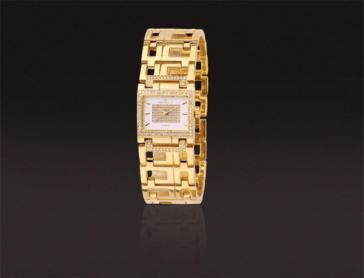 Reloj con caja y brazalete chapado en oro especial I.P.G.