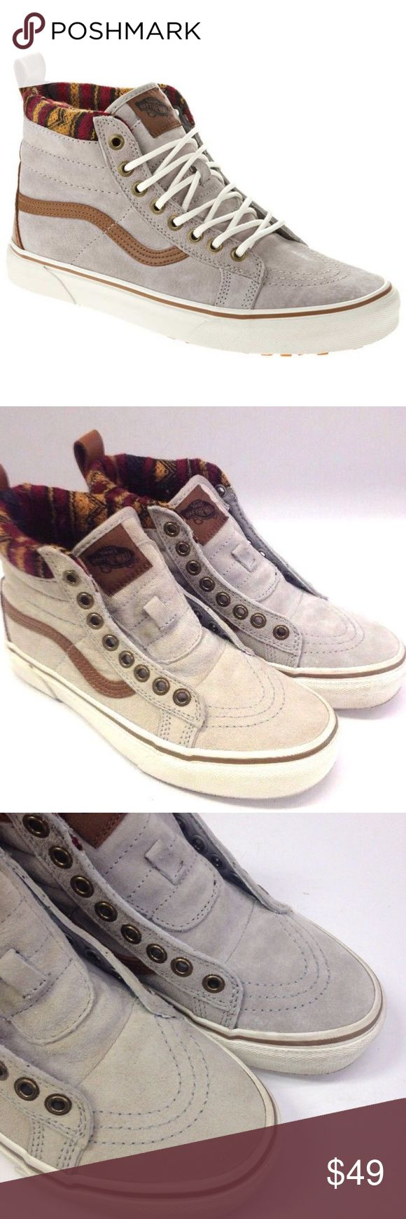 Vans Sk8 Hi Top MTE Scotchgard knit tribal trim Vans Sk8 Hi Top MTE Scotchgard with knit tribal trim  Men size 3.5  Women Size 5  No laces Lightly worn See pictures for condition Vans Shoes Sneakers