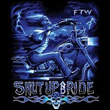 Shut Up And Ride Chopper T-shirt, Skeleton Biker T-shirt, Ghost Rider Motorcycle T-shirt, X-Large, Black  http://bikeraa.com/shut-up-and-ride-chopper-t-shirt-skeleton-biker-t-shirt-ghost-rider-motorcycle-t-shirt-x-large-black/