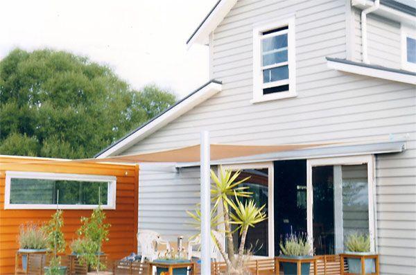 Resene Half, Eighth and Double Napa on house exterior loving the orange
