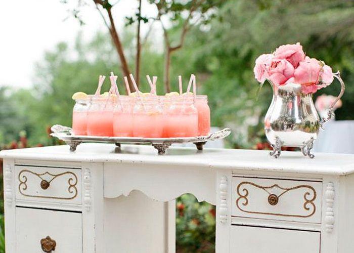 Pink Lemonade , Suco de limão cor-de-rosa, sucos para casamento, casamento, casamento de dia, ideias originais para casamentos, blog de casamento, noiva