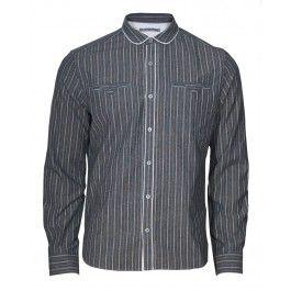 A grey striped shirt