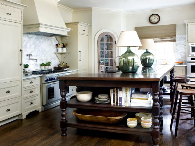 Lr i would love a kitchen island that looks like a piece for Kitchen cabinets that look like furniture