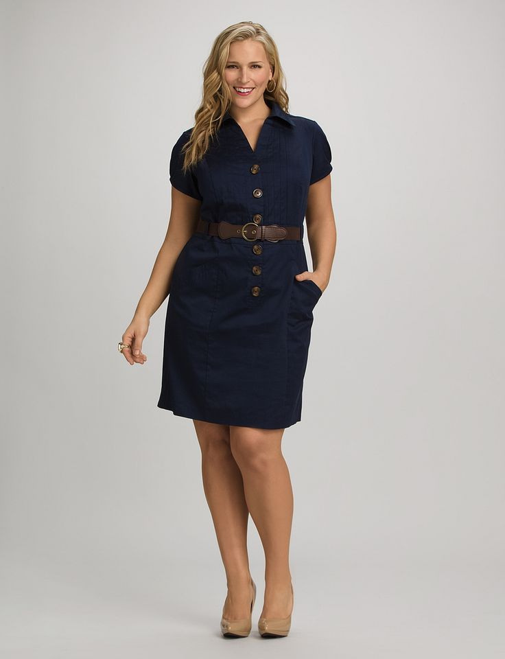 Plus Size   Dresses   Casual Dresses   Plus Size Belted Shirtdress   dressbarn