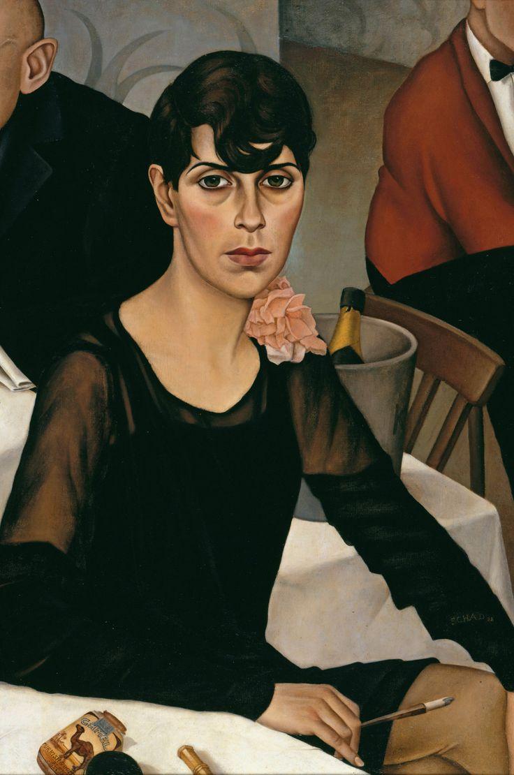 """Christian Schad - """"Sonja"""" (1928, óleo sobre lienzo, 90 x 60 cm, Neue Nationalgalerie, Berlín)  Nadie sabe con certeza quién era Sonja, la mujer inmortalizada por Christian Schad en este magnífico retrato, aunque lo cierto es que su identidad es..."""
