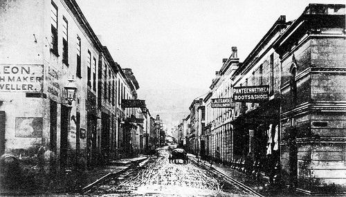 Muddy Longmarket Street in the 1870s