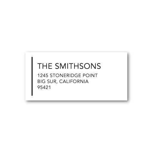 Ampersand Aesthetic - Personalized Address Labels - East Six Design - Black : Front