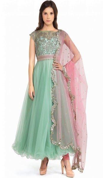 Formal Floor Length Anarkali Indian Dresses
