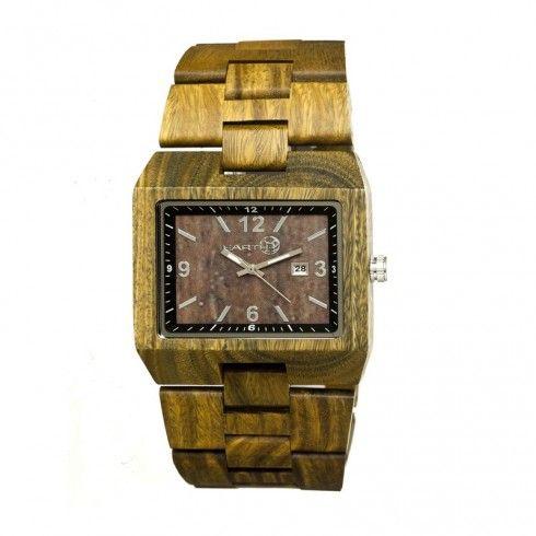 Earth Wood Watches Rhizomes Dark Brown Men's Watch EW1202 - Earth - Shop Watches by Brand - Jomashop
