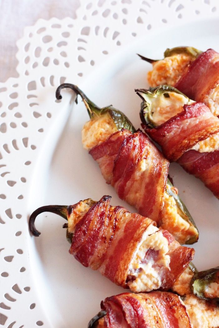 quick & easy : bacon wrapped stuffed jalapenos