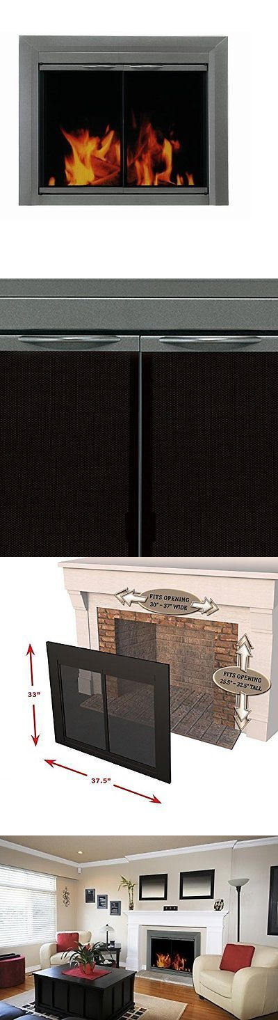 Fireplace Screens and Doors 38221: Pleasant Hearth Cr-3401 Craton Fireplace Glass Door, Gunmetal, Medium -> BUY IT NOW ONLY: $313.67 on eBay!