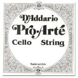 D'Addario Pro-Arte Cello Single A String, 1/2 Scale, Medium Tension by D'Addario. $12.16. From the Manufacturer                Scaled to fit 1/2 size cello with a playing length of 23 5/8 inches (600mm), medium tension strings are optimized to the needs of a majority of players. This A string is aluminum wound.Pro-Arte synthetic core cello strings have a warm, mellow tone. They are less sensitive to humidity and temperature changes, and break in quickly. Pro-Arte strings a...