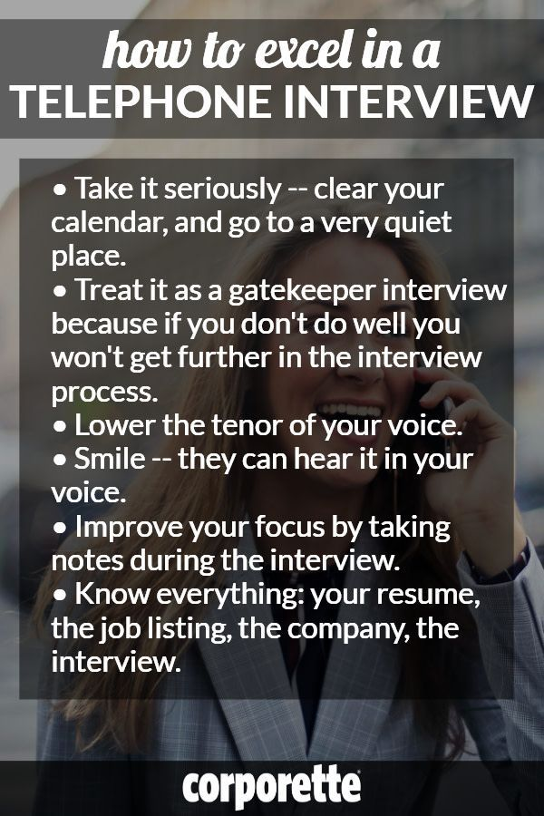 How to Do Well on a Telephone Interview Career Advice - Job Search