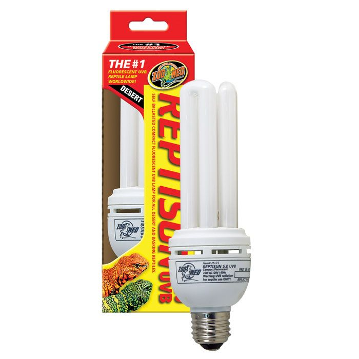 Reptisun 10.0 UVB Compact Fluorescent Lamp - 26W  | Lighting is the most important aspect to reptile health, and the Reptisun is the optimum lamp for tropical and desert-dwelling reptiles. Designed with special UV-transmitting quartz glass, this ideal lamp provides UVB rays to prevent Metabolic Bone Disease and UVA rays to increase appeti…