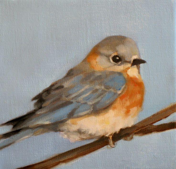 Adele Loomans Fine Art: Eunice's Blue Bird