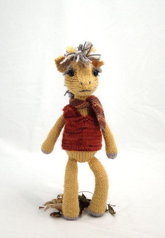 Fuzzy mitten giraffe with vest