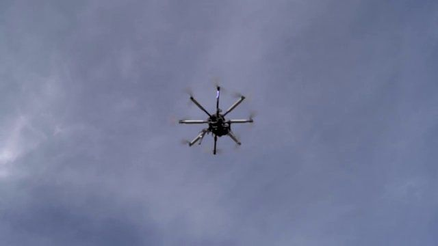 3D scanning with an octocopter #3dscanner #octocopter