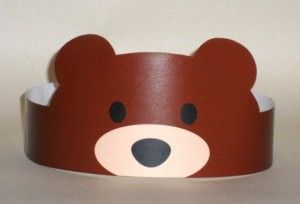 Bear Paper Crown - Printable