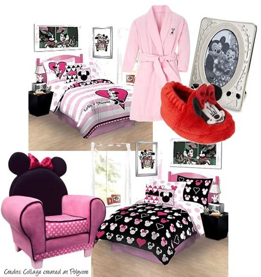 The Minnie Mouse Bedroom- kayleighs gotta have a room like this. :)