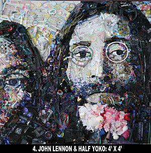 John Lennon and Yoko by Tom Deininger