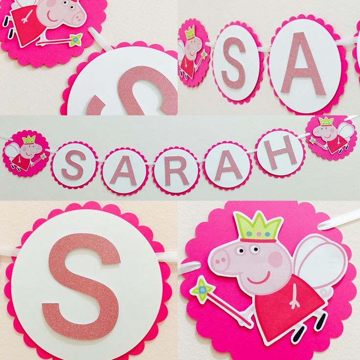 A personal favorite from my Etsy shop https://www.etsy.com/ca/listing/285727407/peppa-pig-birthday-banner-peppa-pig