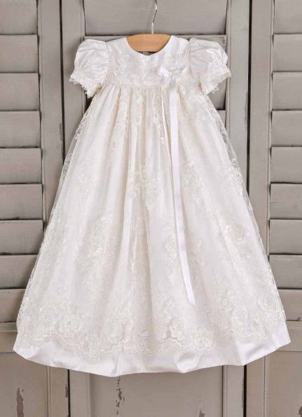 Chloe Christening Gown | One Small Child, Silk Baptism Gown