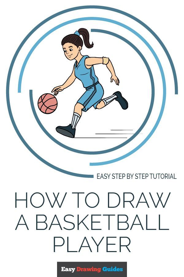 How To Draw A Basketball Player Really Easy Drawing Tutorial Drawing Tutorial Easy Easy Drawings Drawing Tutorials For Kids