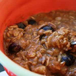Pumpkin Pie Oatmeal for fall and it's healthy-making this tomorrow morning with raisins!