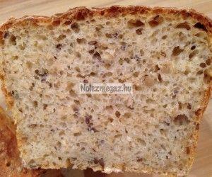 Dagasztás nélküli zabpelyhes kenyér