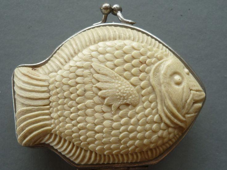 Vintage Art Deco Celluloid Fish Change Purse