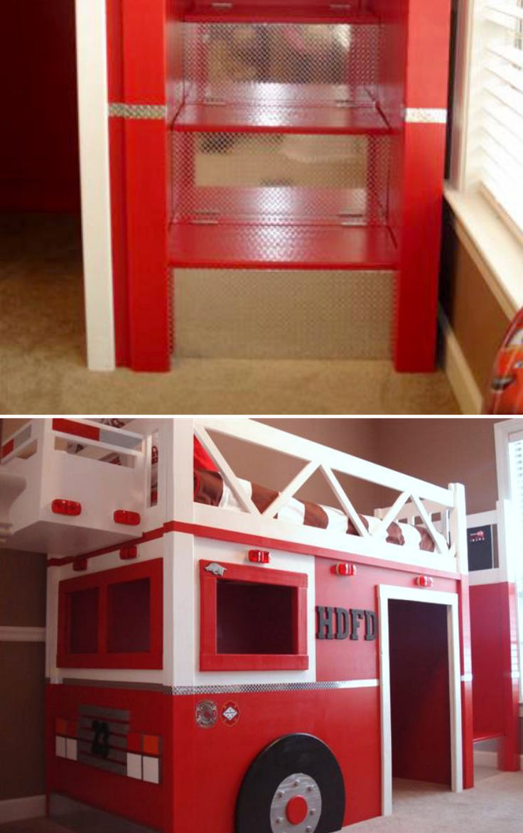 Best 25 fire truck beds ideas on pinterest truck toddler bed fire truck bedroom and used - Ikea fire truck bed ...