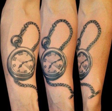 Reloj d bolsillo tatuajes pinterest for Reloj para tatuar