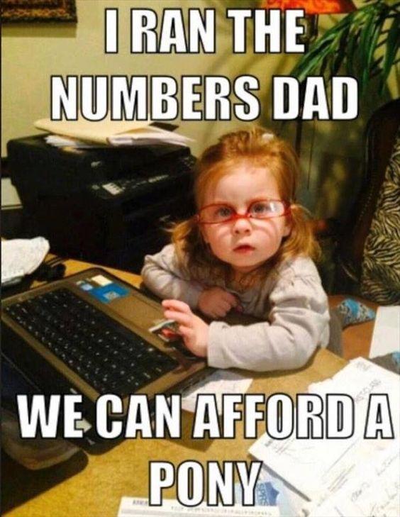 No excuses dad!