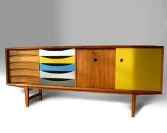 Milieu du siècle moderne teck bahut armoire - livraison gratuite - danois Arne Vodder Finn Juhl commode bahut