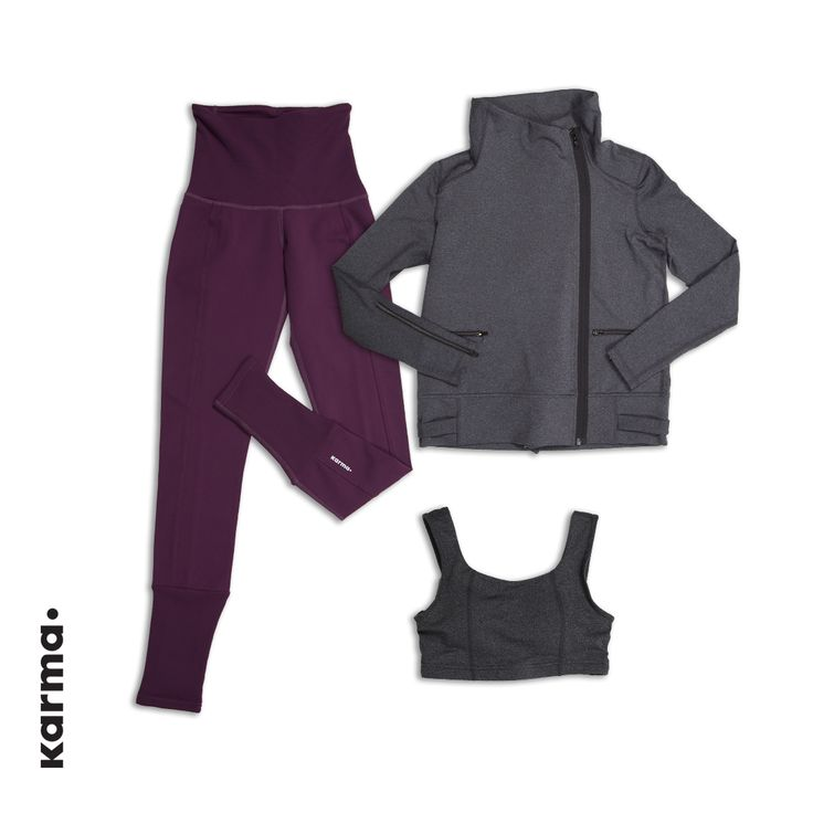 Shown here is the Razia Jacket. Get it here: http://karmaathletics.com/collections/all/products/razia-jacket?variant=4729092932 As well as the Evelyn Bra. Get it here: http://karmaathletics.com/collections/all/products/evelyn-bra?variant=6128804612 And our Yama Tight. Get them here: http://karmaathletics.com/collections/all/products/evelyn-bra?variant=6128804612