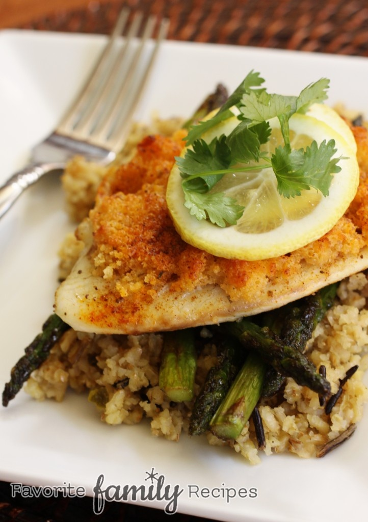 Parmesan crusted tilapia recipe last night fish and for Tilapia fish recipes