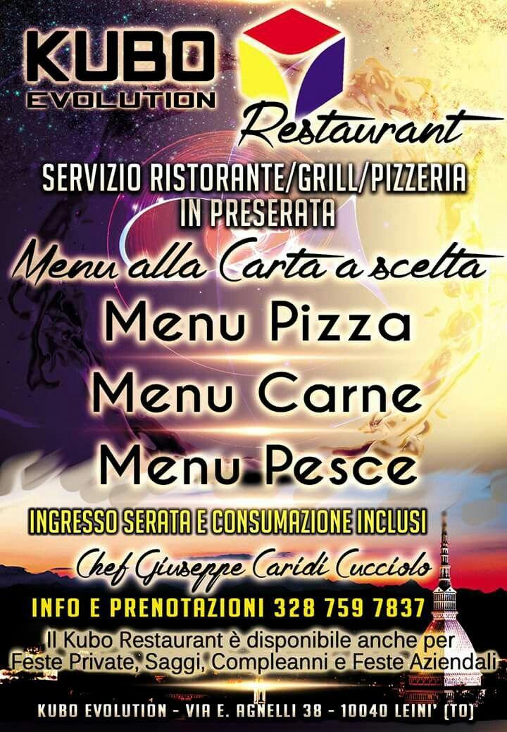 Vi informiamo che a partire dalla data di inaugurazione (Venerdì 23 Settembre) sarà attivo al Kubo il servizio Ristorazione. Kubo Restaurant vi offre un'ampia scelta di menu e portate alla carta per iniziare al meglio la vostra serata. Tutte le formule sono comprensive dell'ingresso alla serata e della consumazione. Per informazioni e prenotazioni: 3287597837  #Kubo #KuboEvolution #KuboRestaurant #Venerdí23settembre #Inaugurazione #show #TAL #TorinoAmaLatino