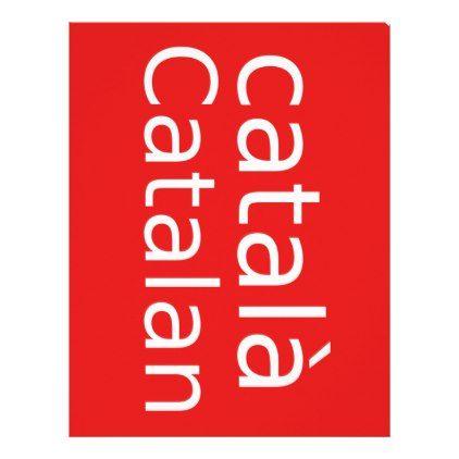 Catalan Language Design Letterhead - office ideas diy customize special