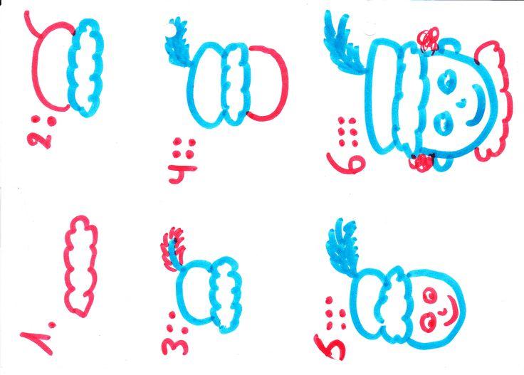 Zwarte Piet tekenen